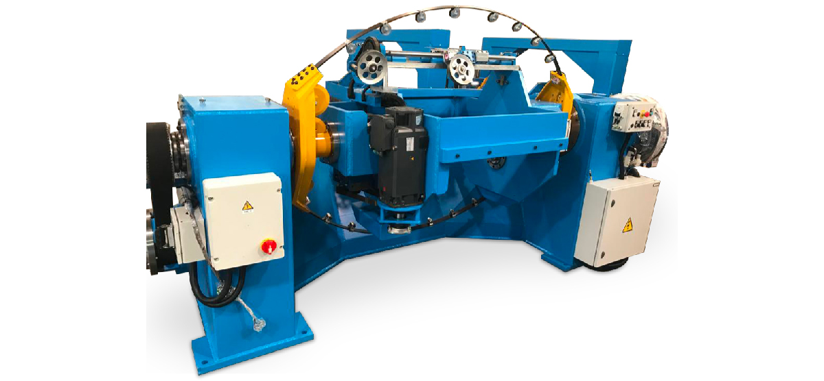 Double twist bunching machine without capstans 600-1600 mm
